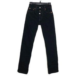 Levi's 501 1980's Vintage black high-rise Jean's